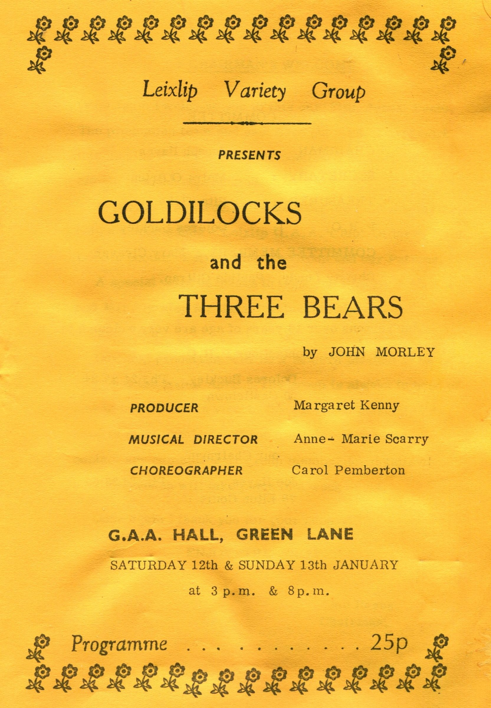 Goldilocks & the Three Bears, 1985 (www.lmvg.ie)