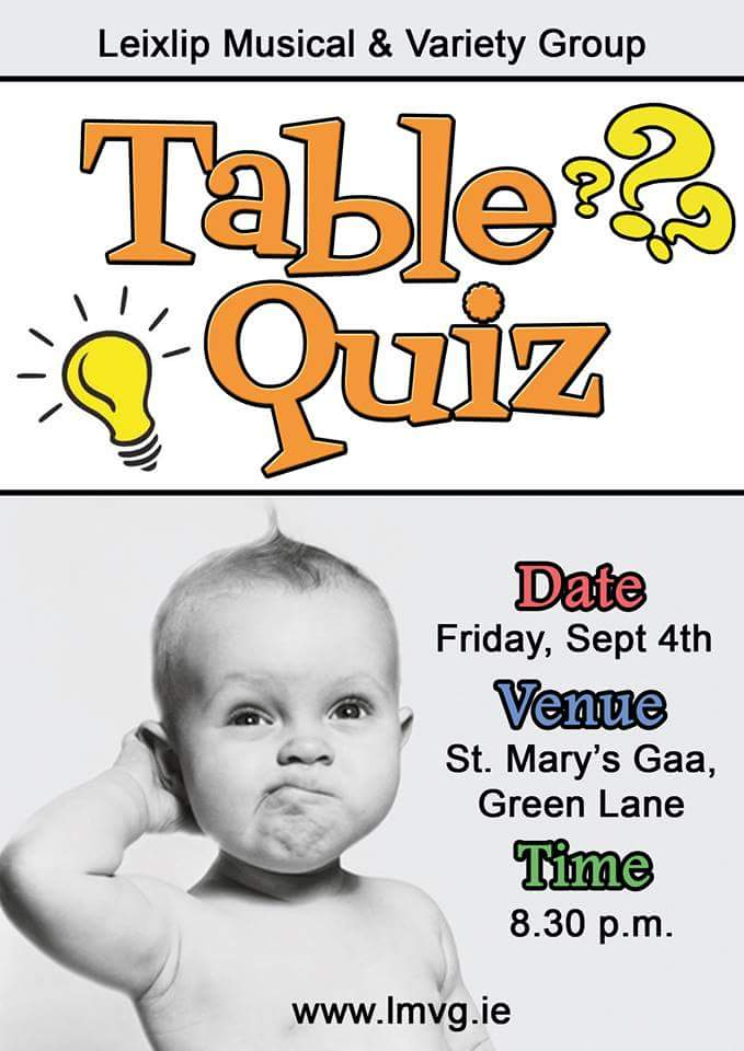 LMVG Table Quiz